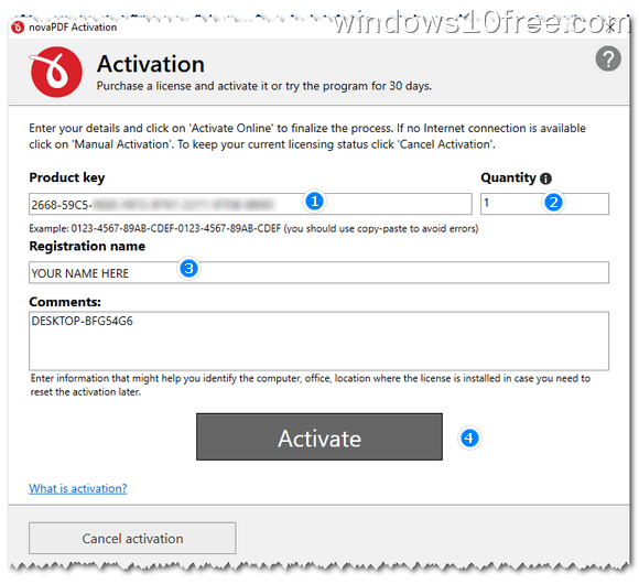 08 novaPDF Install Activate