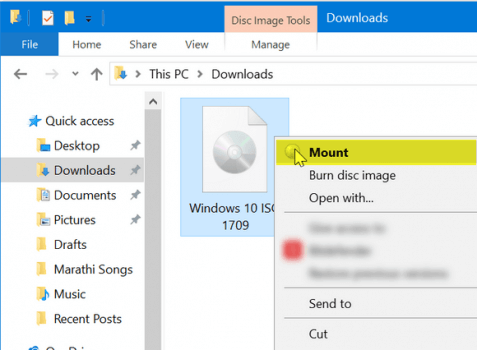 Step 01 Unmount Windows 10 ISO Image