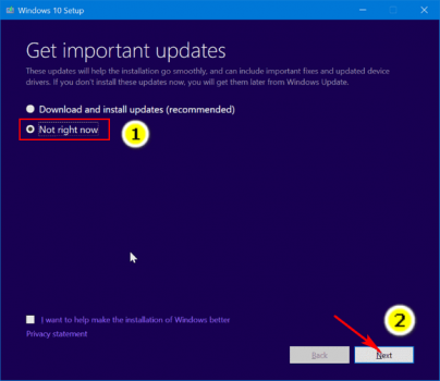 Step 04 Get Important Updates Windows Option