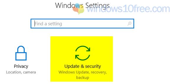 Updates & Security Setings