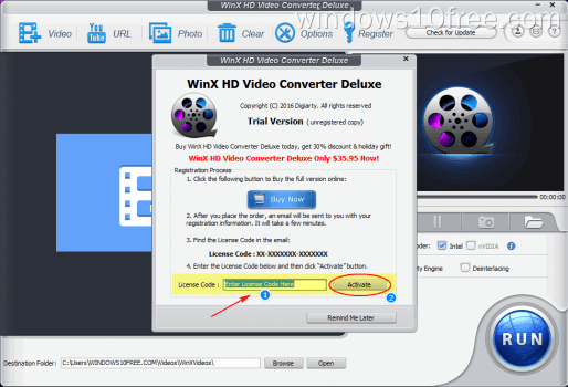 03 WinX HD Video Converter Deluxe Giveaway Enter License