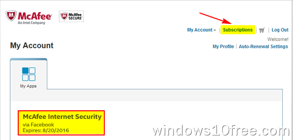 05 McAfee Internet Security 6 Month License My Account 2