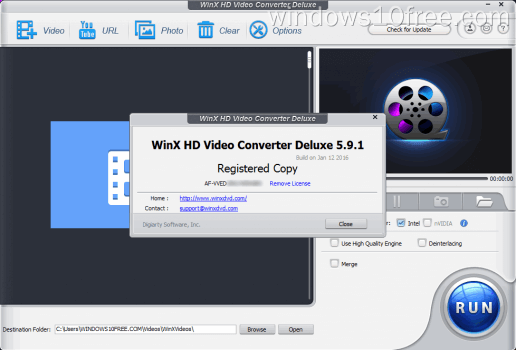 08 WinX HD Video Converter Deluxe Giveaway License Info