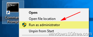 CMD Desktop Run As Administrator
