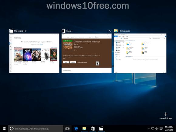 Windows 10 Multi Task