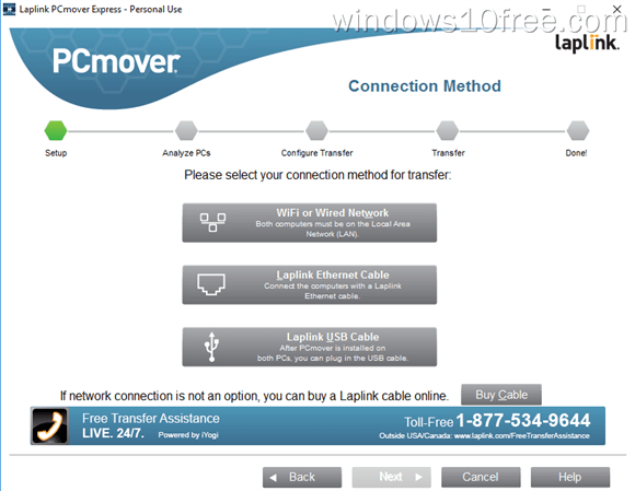 PCmover Express Connection Method
