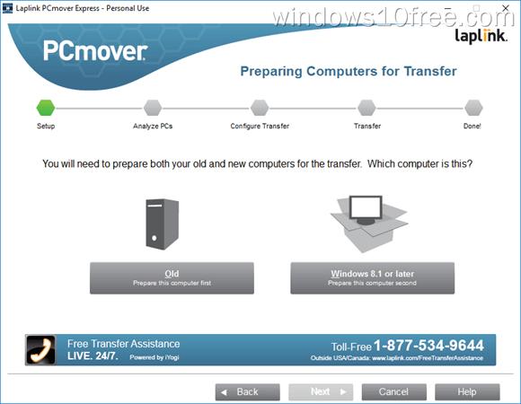 PCmover Express Peraparing Transfer