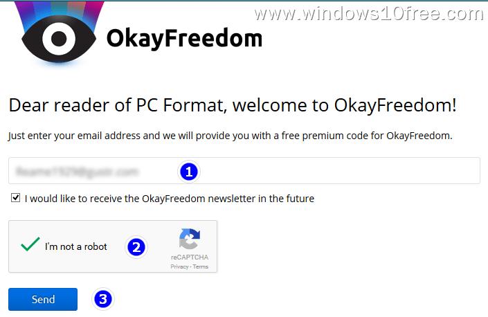 02  Free OkayFreedom VPN Fill The Form