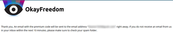 03  Free OkayFreedom VPN Thank You Page