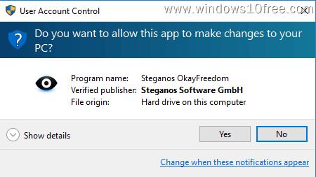 07 Free OkayFreedom VPN Install Wizard Run Admin